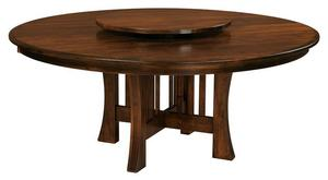 Amish Arts & Crafts X-Base Dining Table with Optional Lazy Susan