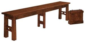 Amish Bridgeport Mission Bench with Extension Option
