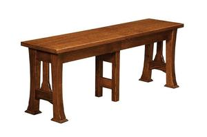 Amish Cambridge Backless Extension Bench