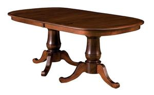 Amish Oakland Double Pedestal Table