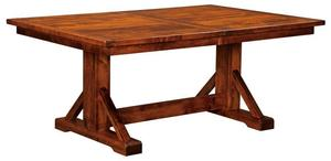 Amish St. Louis Plank Top Trestle Table