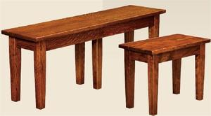 Amish Bridgeport Mission Backless Bench with Extension Option