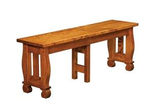 Amish Irving Dining Backless Bench