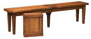 Amish Sacramento Plank Top Extendable Bench