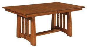 Amish Garland Trestle Table