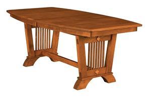 Amish Bernardino Trestle Table