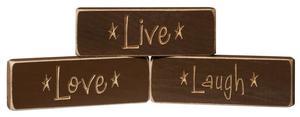 American Made Live • Love • Laugh Inspirational Print
