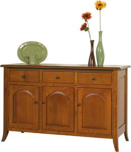 Amish Bunker Hill Buffet with 3 Drawers
