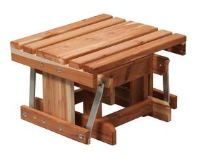 Amish Cedar Wood Adirondack Gliding Footstool