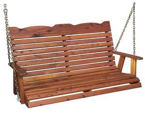 Amish Cedar Wood Straightback Porch Swing