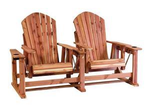 Amish Cedar Wood Adirondack Chair Settee