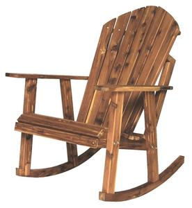 Amish Cedar Wood Adirondack Rocking Chair