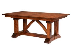 Amish Columbus Trestle Dining Table