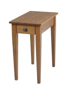 Amish Woodland Shaker Chairside Small End Table