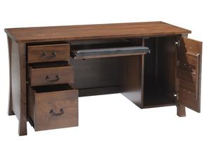 Amish Woodbury Computer Desk with Optional Hutch Top