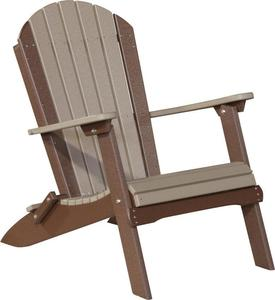 LuxCraft Poly Folding Adirondack Chair