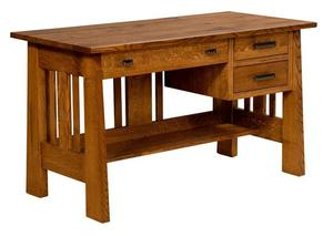 Amish Small Freemont Mission Open Pedestal Desk