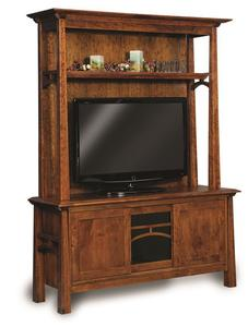 Amish Artesa Two Piece Entertainment Center with Three Doors