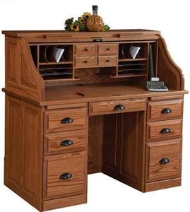 """Amish Traditional 50"""" Roll Top Desk"""