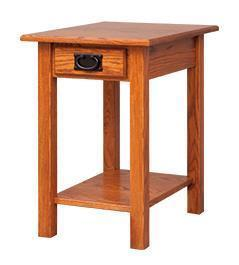 Amish Open Chairside Mission End Table