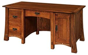 Amish Morgan Computer Desk with Optional Topper