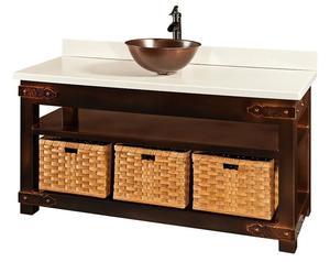 Campton Amish Custom Bathroom Vanity Cabinet