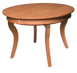 Amish Ripple Back Round Concave Extension Table