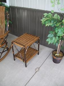 Amish Made Hickory Wood End Table