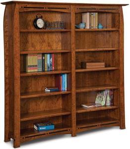 Amish Boulder Creek Mission Double Bookcase