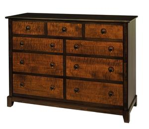 Amish Chesapeaka Nine Drawer Dresser