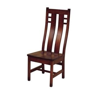 Amish Solid Wood Cascade Mission Dining Chair