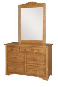"""Amish Eden 48"""" Dresser with Optional Mirror"""