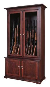 Amish Traditional Solid Wood Gun Cabinet - 12 Gun Capacity
