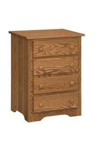 Amish Shaker Nightstand with Four Drawers