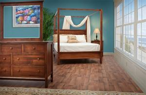 Amish Modern Shaker Canopy Four Piece Bedroom Set