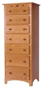 Amish Century Mission 7-Drawer Lingerie Chest