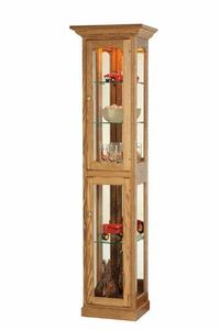 American Made Solid Wood Curio Cabinet