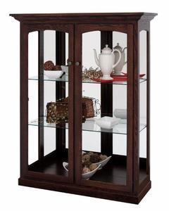 Amish Traditional Contemporary Two Door Curio Cabinet