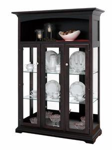 Amish Three Door Curio Cabinet