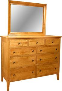 Amish Chelsea Tall 9-Drawer Dresser with Optional Mirror