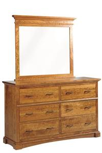 Amish Crystal Lake Dresser with Optional Mirror