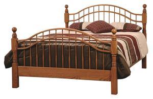 Amish Laurel Victorian Bed
