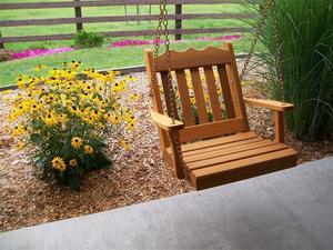 Amish Cedar Wood Royal English Chair Swing