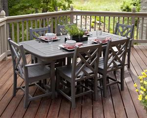POLYWOOD® Chippendale 7-Piece Outdoor Dining Set