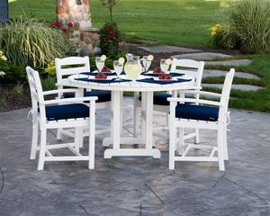 POLYWOOD® La Casa Café 5-Piece Outdoor Dining Set with Cushions