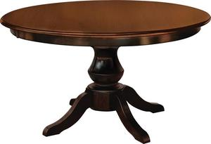 Amish Queen Anne Single Pedestal Table