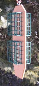 Amish Poly Four-Cage Suet Bird Feeder