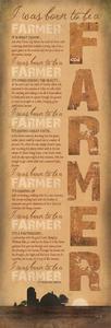 USA-Made Born to be a Farmer Inspirational Plaque