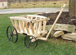 Amish Wooden Goat Cart - Small Premium
