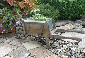 Amish Old Fashioned Wheelbarrow - Mini Rustic